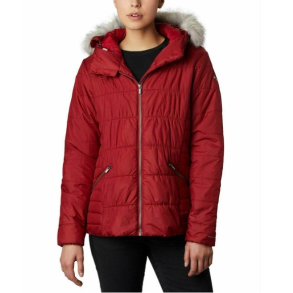 Columbia Sparks Lake™ Hooded Faux-Fur-Trim Puffer
